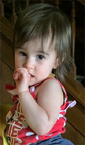 Jocelyn, 18 months old, Retinoblastoma